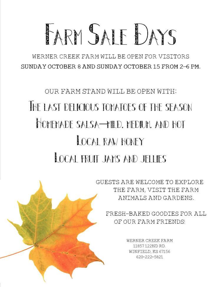 Farm Sale Days